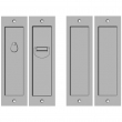 Rocky Mountain Hardware<br />SDL-D-PR - Double Sliding Door Lock - Privacy