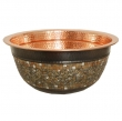 Thompson Traders - sinks<br />23-1222-C - MURANO SINK - Polished Copper/Mosaic