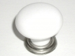 Top Knobs<br />M102 - Large knob  1 3/8&quot; in Antique Pewter &amp; White