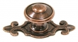 Top Knobs<br />M231 - Canterbury knob 1 1/4&quot; w/backplate in Old English Copper