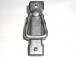 Top Knobs<br />M238 - Mission ring handle w/backplate 2 1/4&quot; CC in Pewter Light