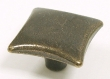 Top Knobs<br />M254 - Square knob 1 3/8&quot; in German Bronze