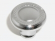 Top Knobs<br />M325 - Swirl cut knob 1 3/16&quot; in Polished Chrome