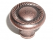 Top Knobs<br />M332 - Swirl cut knob 1 3/16&quot; in Antique Copper