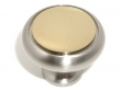 Top Knobs<br />M340 - Split finish knob 1 1/4&quot; in Polished Nickel &amp; Polished Brass