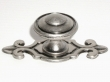 Top Knobs<br />M464 - Canterbury knob 1 1/4&quot; w/backplate in Antique Pewter