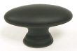 Top Knobs<br />M499 - Oval Knob 1 1/2&quot; in Flat Black