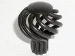 Top Knobs<br />M614 - Small Flower Twist Knob in Patine Black