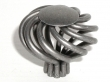 Top Knobs<br />M616 - Large Flower Twist Knob in Pewter