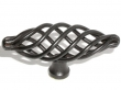 Top Knobs<br />M623 - Medium Oval Twist Knob in Patine Black