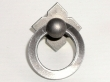 Top Knobs<br />M634 - Small Smooth Ring Pull w/backplate in Pewter