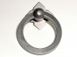Top Knobs<br />M637 - Large Smooth Ring Pull w/backplate in Pewter