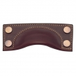 Turnstyle Designs<br />A1183 - Bow Leather, Cabinet Cup Handle, Brass Framed 6&quot;