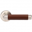 Turnstyle Designs<br />C1013 - Combination Leather, Door lever, Oval Angle Stitch In