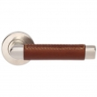 Turnstyle Designs<br />C1414 - Combination Leather, Door lever, Oval Angle Stitch Out