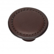 Turnstyle Designs<br />H1190 - Saville Leather, Cabinet Knob, Button, 1 25/32&quot;