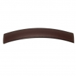 "Turnstyle Designs<br />H1193-1036 - Saville Leather, Cabinet D Handle, Curve 96mm 3 25/32"" CC"