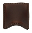 Turnstyle Designs<br />H1194 - Saville Leather, Cabinet Cup Handle, Small Wave 2&quot;