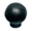 Turnstyle Designs<br />LC1748 - Leather Composite, Cabinet Knob, Ball Stitched, 1 5/16&quot;