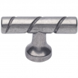 Turnstyle Designs<br />N1506 - Surface Amalfine, Cabinet knob T bar, Groove Twist