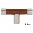 Turnstyle Designs<br />R1198 - Recess Leather, Cabinet knob T bar, Barrel