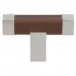 Turnstyle Designs<br />R1199 - Recess Leather, Cabinet knob T bar, Square