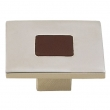 Turnstyle Designs<br />R1200 - Recess Leather, Cabinet Knob, Square, 1 19/32&quot;