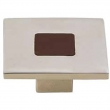 Turnstyle Designs<br />R1200 - Recess Leather, Cabinet knob, Square