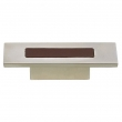 Turnstyle Designs<br />R1201 - Recess Leather, Cabinet Knob, Rectangle, 1 9/32&quot; CC, 3&quot; Length