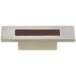 Turnstyle Designs<br />R1201 - Recess Leather, Cabinet knob, Rectangle