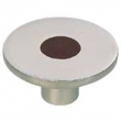 Turnstyle Designs<br />R1202 - Recess Leather, Cabinet knob, Small Circle