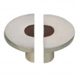 Turnstyle Designs<br />R1203 - Recess Leather, Cabinet knob, Small Semi Circle pair