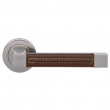 Turnstyle Designs<br />R1468 - Recess Leather, Door lever, Square Stitch Out