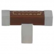 Turnstyle Designs<br />R1929 - Recess Leather, Cabinet knob T bar, Square Stitch Out