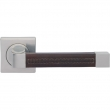 Turnstyle Designs<br />R1980 - Recess Leather, Door lever, Radius Square ( stitch out )