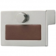 Turnstyle Designs<br />R1989 - Recess Leather, Push button cabinet pull, Ledge