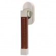 Turnstyle Designs<br />R2528/R2557 - Recess Leather, Tilt and turn window handle, Square Stitch Out