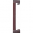 Turnstyle Designs<br />R2682 - Recess Leather, Door Pull, Offset Square, Side Stitch Out