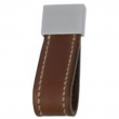 Turnstyle Designs<br />U1882 - Strap Leather, Cabinet pull handle, Square loop