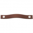 Turnstyle Designs<br />UP1185 - Leather Plain Strap, Cabinet pull handle, Large