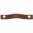 Turnstyle Designs<br />UP1186 - Leather Plain Strap, Cabinet pull handle, Medium