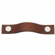 Turnstyle Designs<br />UP1187 - Leather Plain Strap, Cabinet pull handle, Small