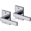 Ashley Norton<br />UB.20 - Exposed Fixing Contemporary Rectangular Rose Privacy Pin Set - 3-3/8&quot; x 2-1/2&quot;