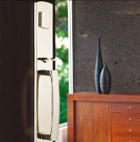 Tumbled White Bronze Entry Handlesets